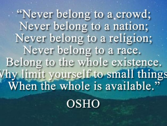 osho never be