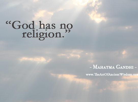 Bog nije religija ...